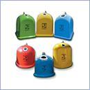 Pojemnik PZ011 pojemniki do segregacji odpadów zewnątrz kosze do segregacji śmieci segregacja odpadów