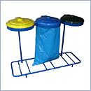 Stojak SW2/3S pojemniki do segregacji stojaki na worki segregacja odpadów