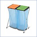 Stojak SW092/2 pojemniki do segregacji stojaki na worki segregacja odpadów