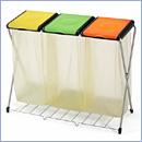 Stojak SW098/3K pojemniki do segregacji stojaki na worki segregacja odpadów