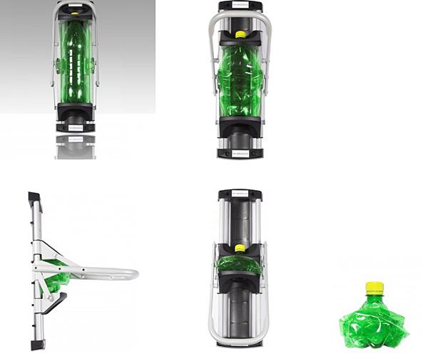 Zgniatarka do butelek i puszek naścienna segregacja odpadów-3