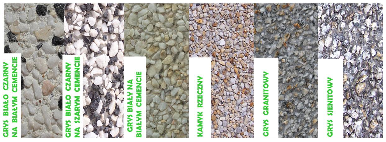 wzornik betonu z opisem