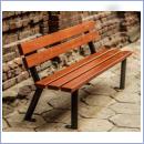 Ławka stalowo-drewniana L019