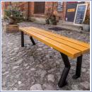 Ławka stalowo-drewniana L019B