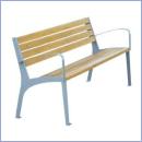 Ławka stalowo-drewniana L028