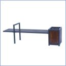 Ławka stalowo-drewniana L029