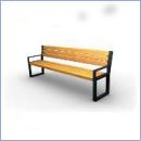 Ławka stalowo-drewniana L084
