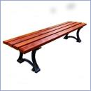 Ławka stalowo-drewniana L153B