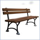 Ławka stalowo-drewniana L160