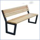 Ławka stalowo-drewniana L164