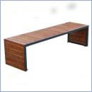 Ławka stalowo-drewniana L165
