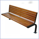 Ławka stalowo-drewniana L166