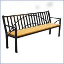 Ławka stalowo-drewniana L168