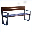 Ławka stalowo-drewniana L171
