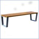 Ławka stalowo-drewniana L171B