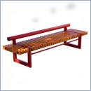 Ławka stalowo-drewniana L172
