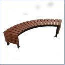 Ławka stalowo-drewniana L177