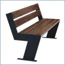 Ławka stalowo-drewniana L178