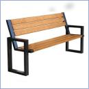 Ławka stalowo-drewniana L180