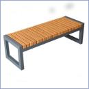 Ławka stalowo-drewniana L184