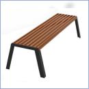 Ławka stalowo-drewniana L185B