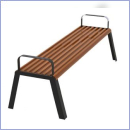 Ławka stalowo-drewniana L185BP
