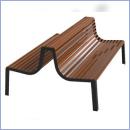 Ławka stalowo-drewniany L185duo