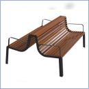 Ławka stalowo-drewniany L185Pduo