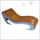 Leżak stalowo-drewniany L201