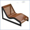 Leżak stalowo-drewniany L202