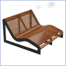 Leżak stalowo-drewniany L202Duo