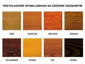 Kolorystyka elementów drewnianych