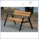 Ławka stalowo-drewniana L003